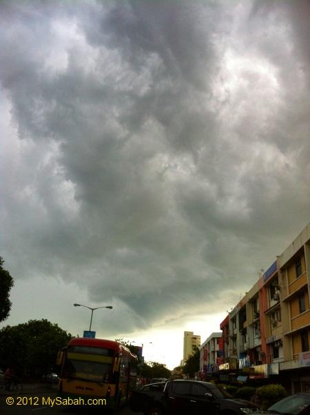 dispersed cloud