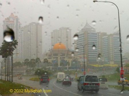 heavy rain at 1Borneo