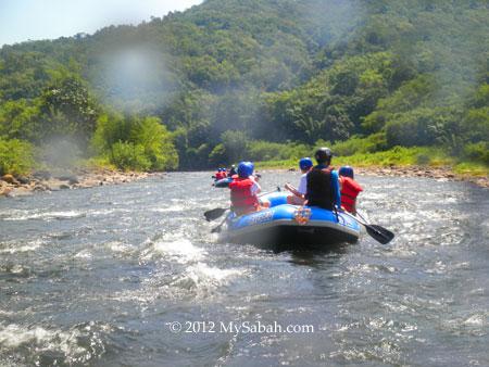 White water rafting in Kiulu River