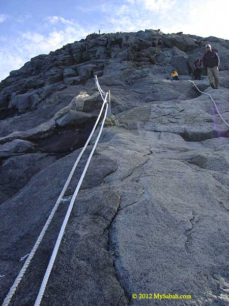 trail to the summit of Mount Kinabalu