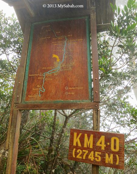 trail signage and map