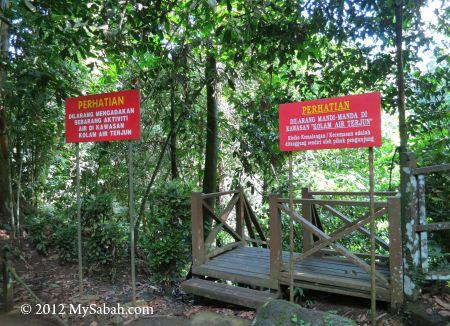 entrance to Madai Waterfall