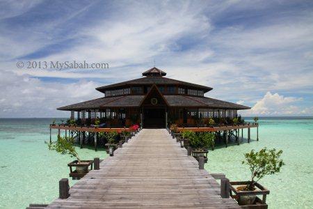 restaurant of Lankayan Island