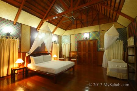 room of Lankayan Island Resort