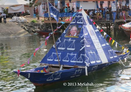 pyramid boat flags