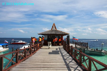 jetty of Sipadan Island