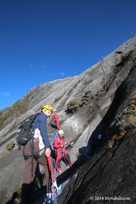 sport climbing on Mt. Kinabalu