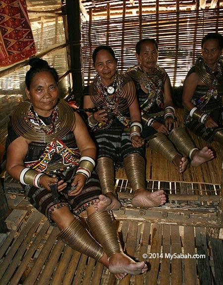 Rungus women in longhouse