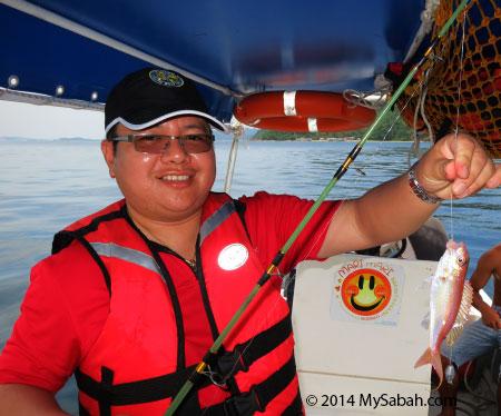 fishing near Sepanggar Island