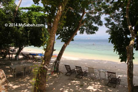 sea view of Sepangar Island
