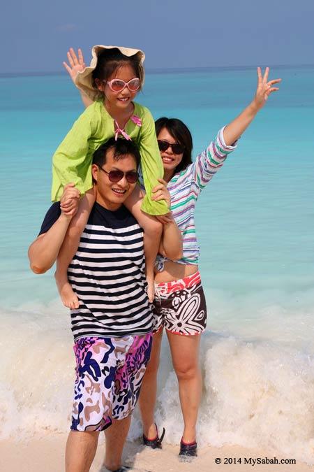 happy family on Mengalum Island