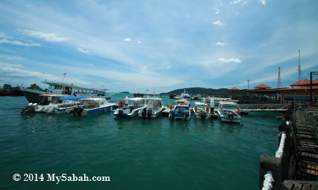 boats parked in Jesselton Point