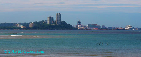 view of Kota Kinabalu city from UMS jetty