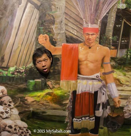 Murut headhunter photo booth in 3D Wonders Museum