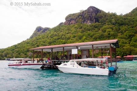 jetty of Bohey Dulang Island