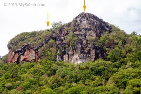 peaks of Bohey Dulang