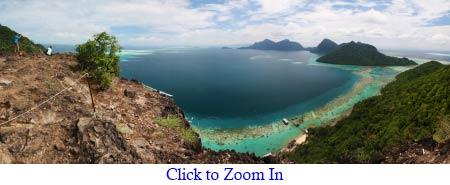 panoramic view of Bohey Dulang
