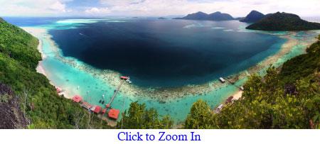 panoramic view of Bodgaya Lagoon