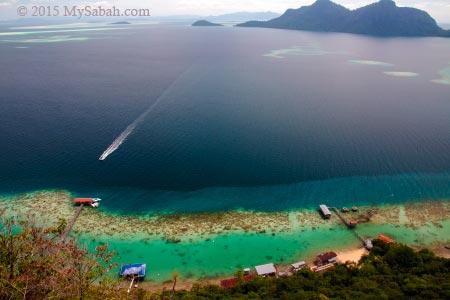 scenery of Bohey Dulang