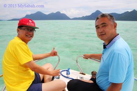 boat ride to Bohey Dulang