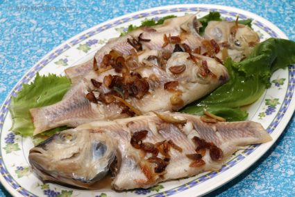Steamed Tilapia fishes