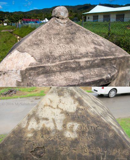Inscription on the Head House of Kampung Sunsuron