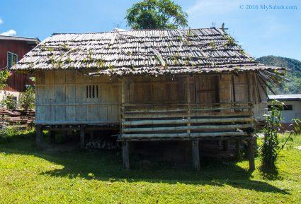 A traditional Tambunan house in Sunsuron Village