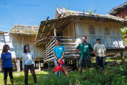 Photo behind the Tambunan traditional house