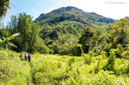 Mount Wakid is far ahead