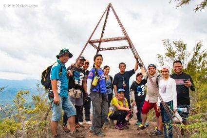 The highest peak of Mt. Wakid (Gunung Wakid)