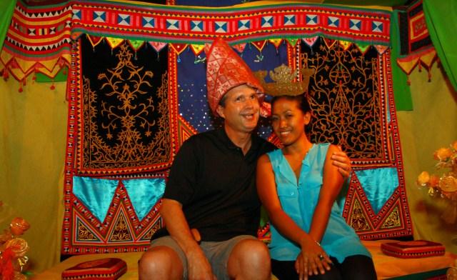 tourists try traditional Bajau wedding