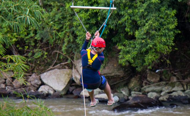 flying fox of Zip Borneo