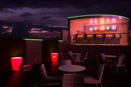 Poolside bar of Avangio Hotel