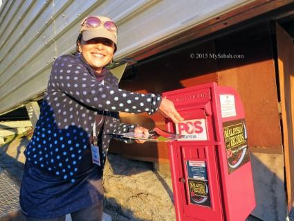 Sending postcards from the Highest Post Box of Malaysia