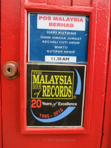 The label says the pick-up time is 11:30am from Mon to Fri (except Public Holiday)