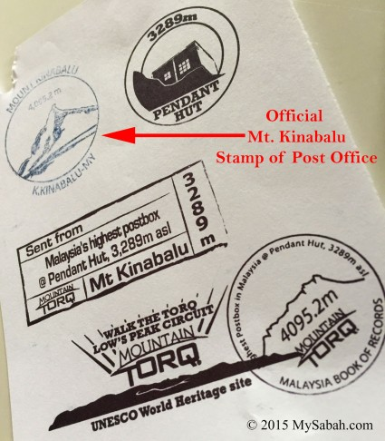 Different kind of stamps that can be used for stamping postcard