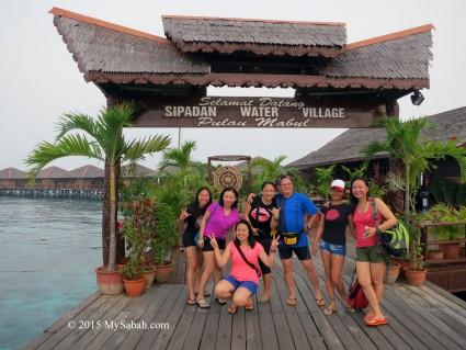 Group photo at Sipadan Water Village