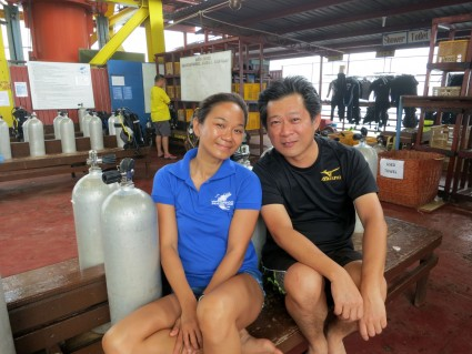 Photo with Suki, my divemaster