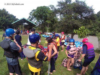 Starting point of White water rafting (Kiulu)