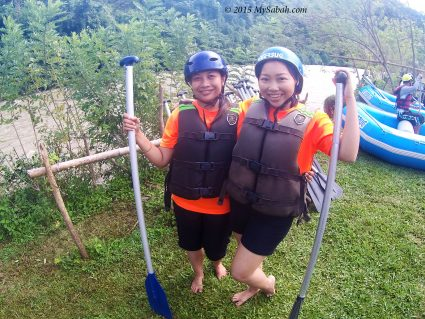 Girls gear up for white water rafting