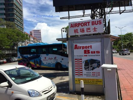 Airport Bus station in Padang Merdeka Field