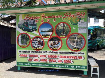 Bus ticket booth in Padang Merdeka Field