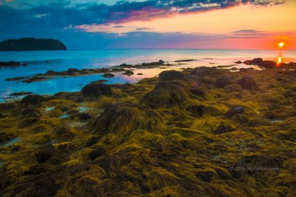 Beautiful sunset at Bawang Jamal Beach
