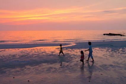 Sunset view at Bawang Jamal Beach