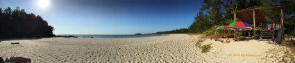 Panoramic view of Bawang Jamal Beach