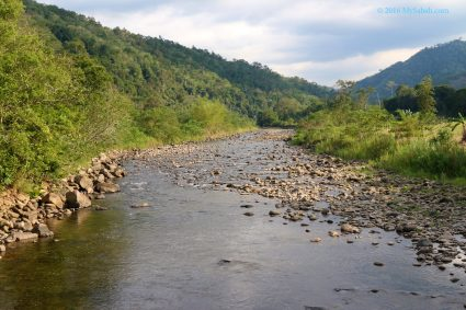 Unpolluted river of Kiulu Valley