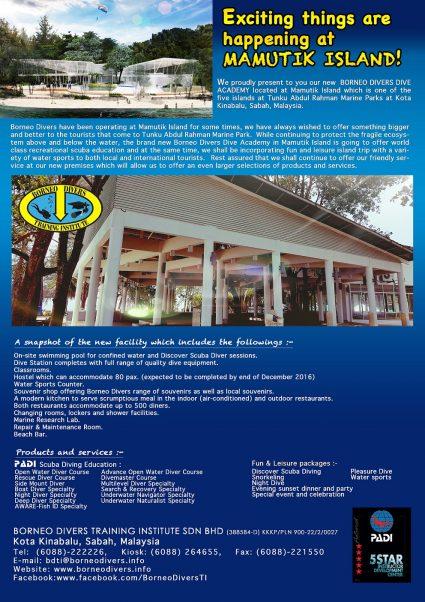 Brochure of Borneo Divers Dive Academy