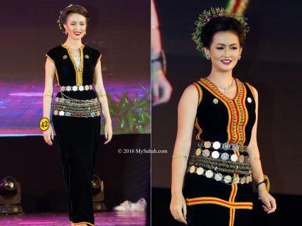 Standard way of wearing himpogot by Kadazan Penampang