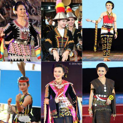 Kadazan Dusun and Murut people wearing himpogot