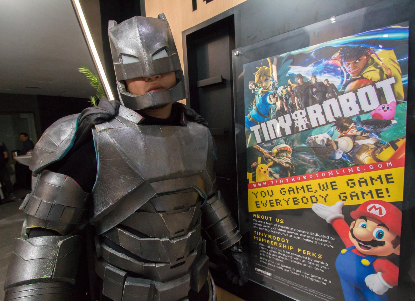 Tiny Robot and Batman